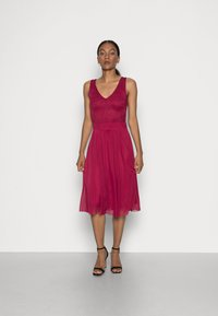 Anna Field - LACE V NECK OCCASION DRESS PURPLE POTION - Cocktail dress / Party dress - red - 0