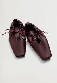 Violeta by Mango - RUFFLE - Ballet pumps - bordeaux - 4