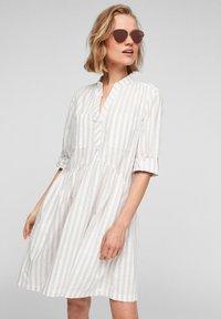 Q/S designed by - Day dress - beige stripes - 0