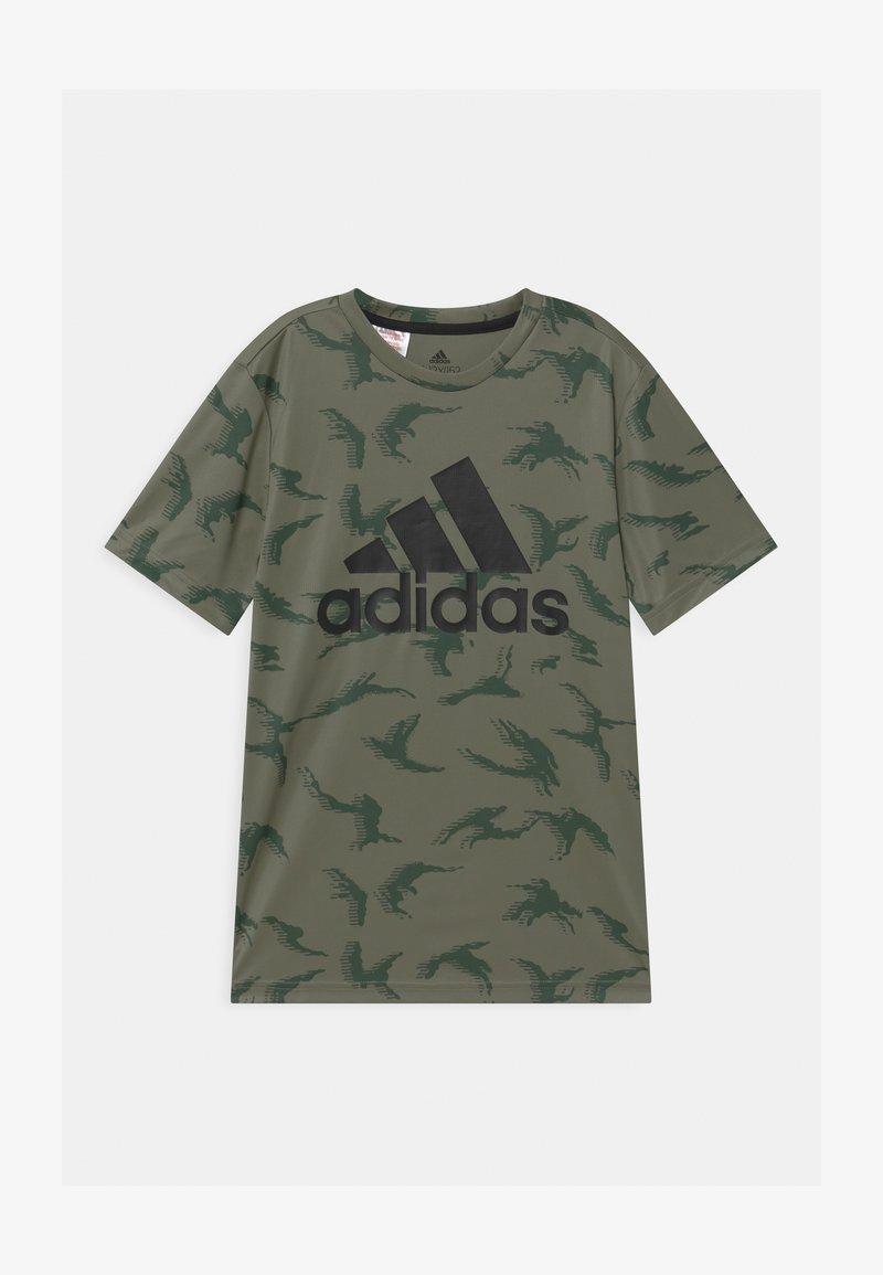 adidas Performance - UNISEX - Camiseta estampada - legacy green/black