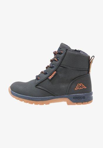 CAMMY  - Hiking shoes - navy/orange