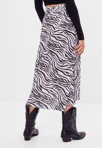 Bershka - Wrap skirt - black - 2