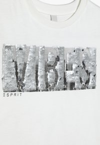 Esprit - TEE - Print T-shirt - off white