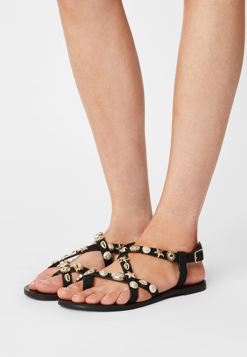 Rubi Shoes by Cotton On - TYRA MULTI STRAP - Sandals - black/ gold