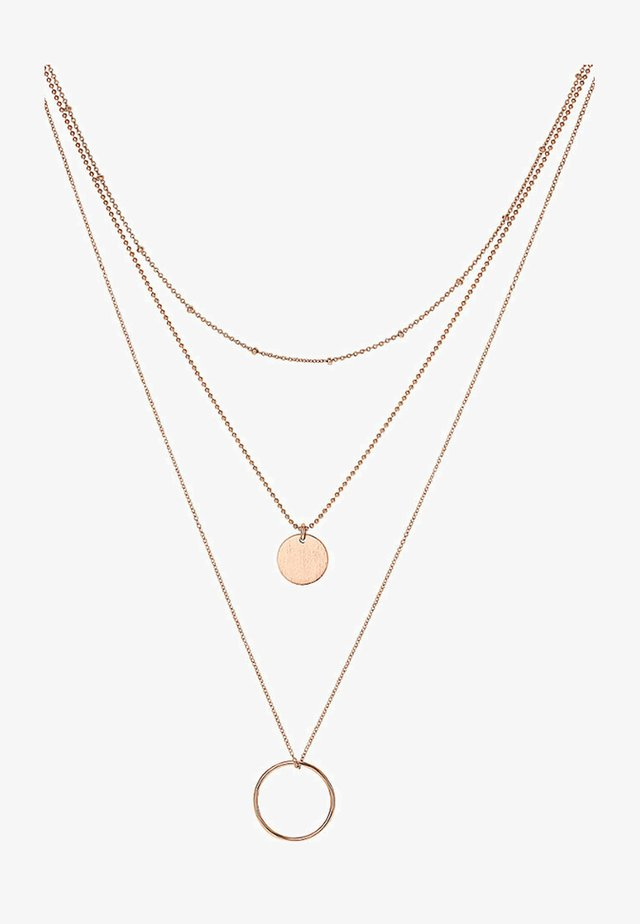 Necklace - rosegold-coloured