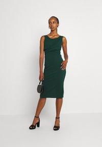WAL G. - SAKINA WRAP MIDI DRESS - Jersey dress - forest green - 1