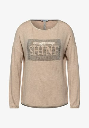 MIT STRASS-PRINT - Long sleeved top - beige