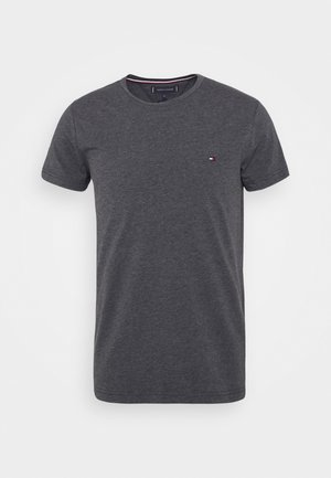 STRETCH SLIM FIT TEE - T-shirt - bas - grey