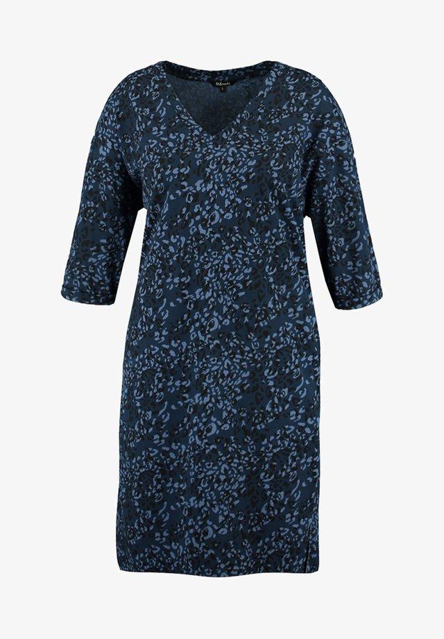 PRINT EN GLITTER - Robe pull - blue