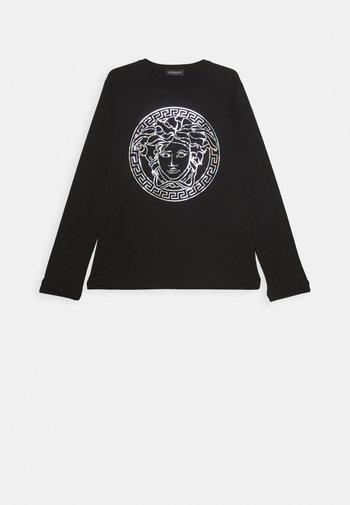 MAGLIETTA MANICA LUNGA - Long sleeved top - nero/argento