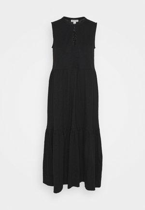 TIERED DRESS - Maxi dress - black