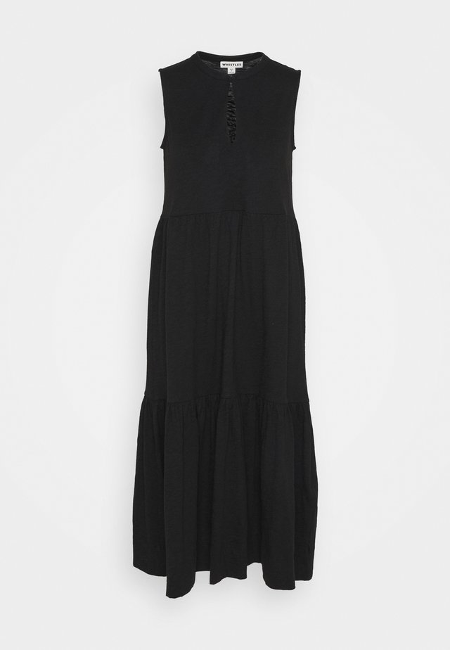 TIERED DRESS - Maxi-jurk - black