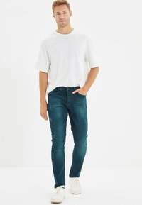 Trendyol - Jean slim - navy blue - 1