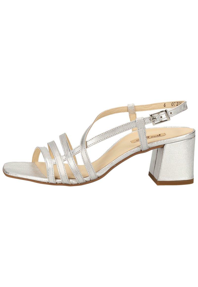 Paul Green - Sandals - silber metallic 26