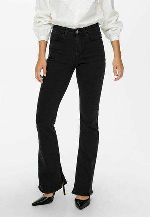 NEWFLORA MIT SCHLAG - Bootcut jeans - dark grey denim