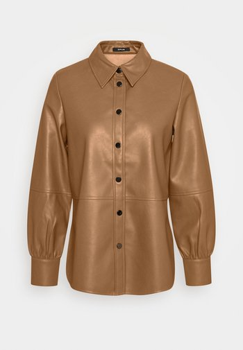 FEDA - Button-down blouse - peanut