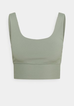 SCOOP NECK VESTLETTE - Top - basil green rib