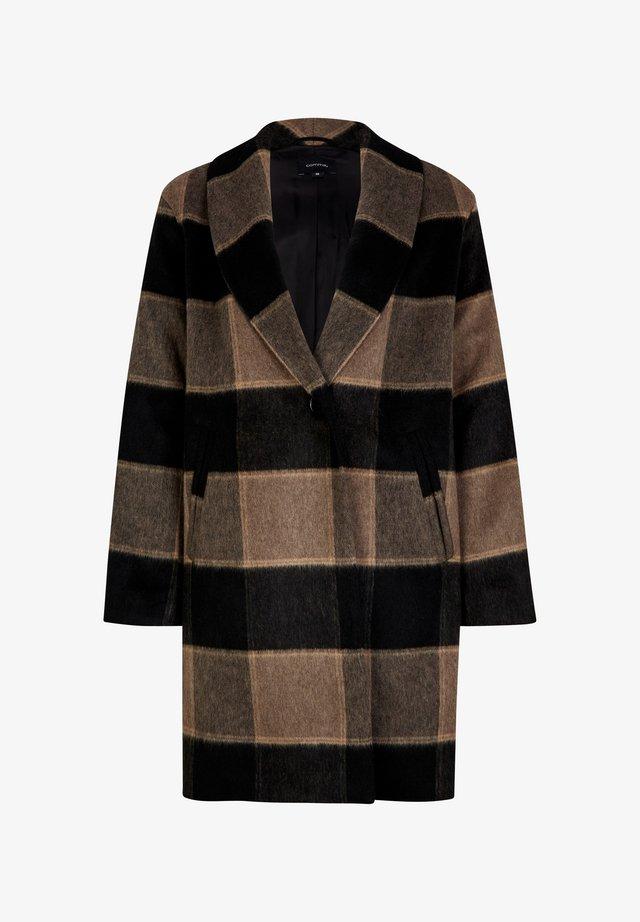 Classic coat - black white check