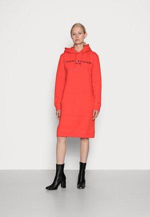 REGULAR HILFIGER HOODIE DRESS  - Day dress - red