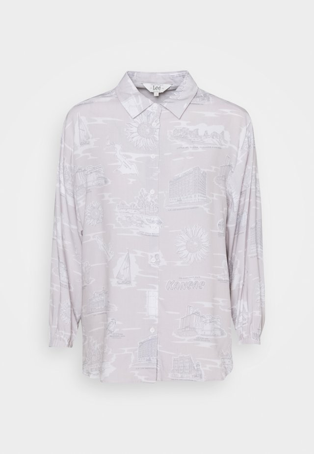 RESORT - Button-down blouse - lilac hunt