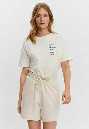 AWARE - T-shirt z nadrukiem - snow white