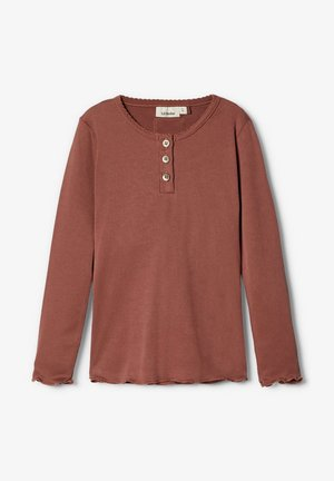 Pitkähihainen paita - mahogany