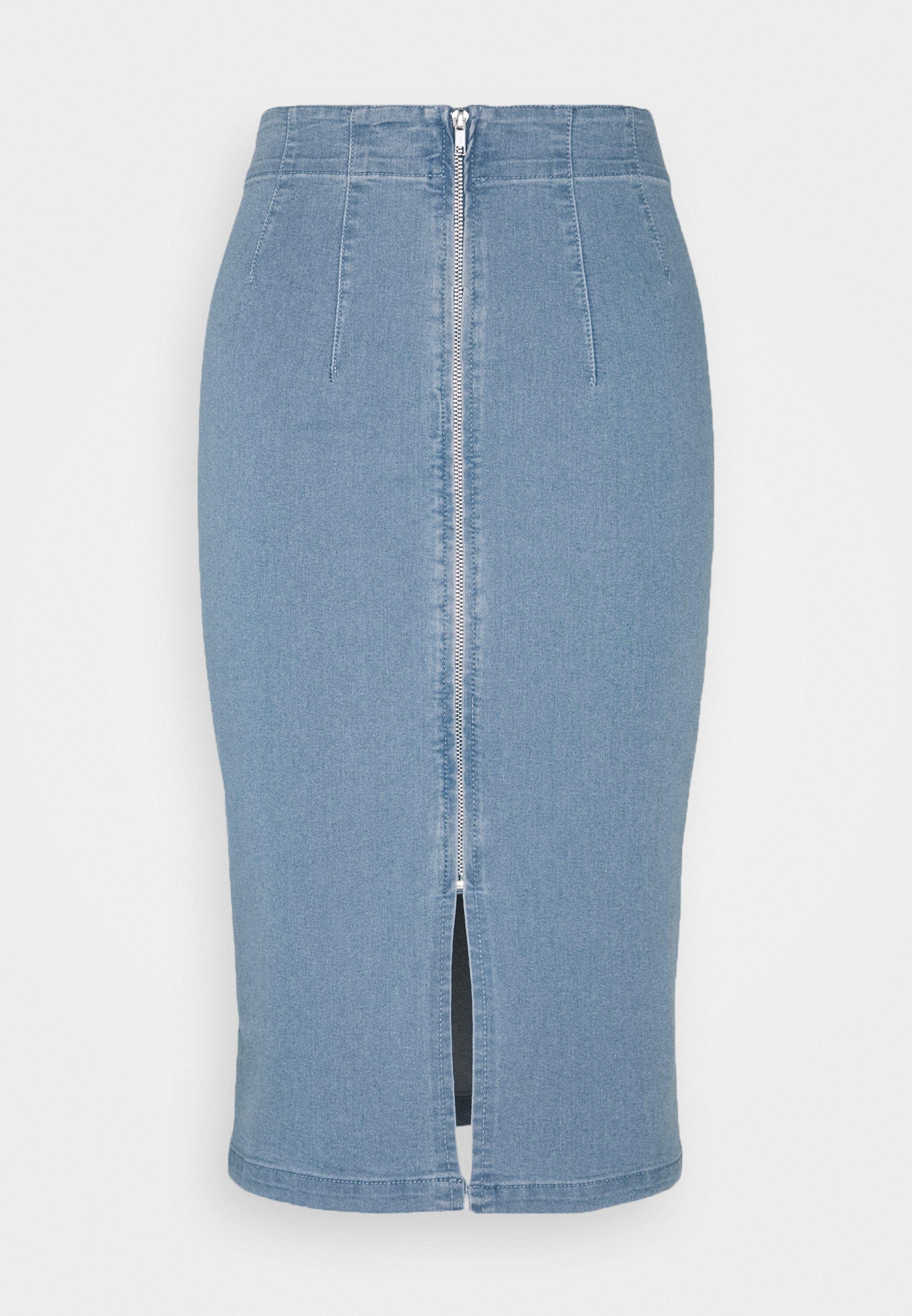 Femme VIFANNI MALLE MIDI SKIRT - Jupe en jean