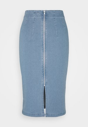 VIFANNI MALLE MIDI SKIRT - Denim skirt - light blue denim