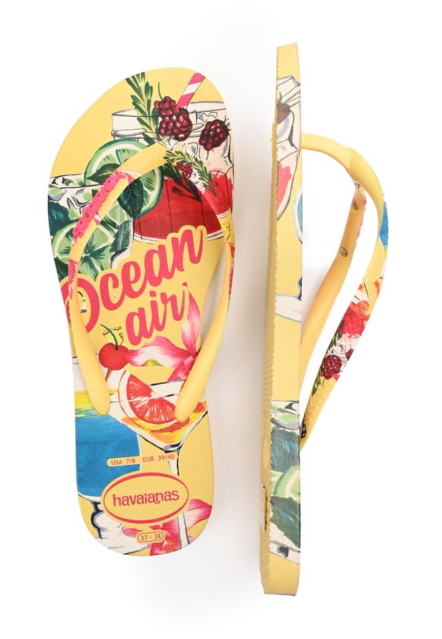 SLIM SUMMER - Chanclas de dedo - yellow