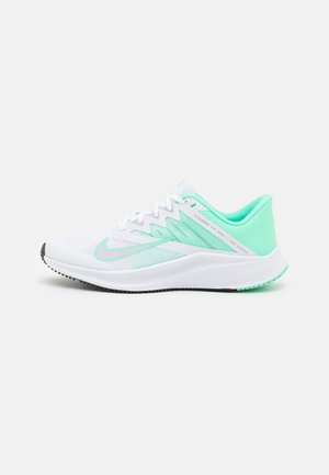 QUEST 3 - Zapatillas de running neutras - white/infinite lilac/green glow/dark smoke grey