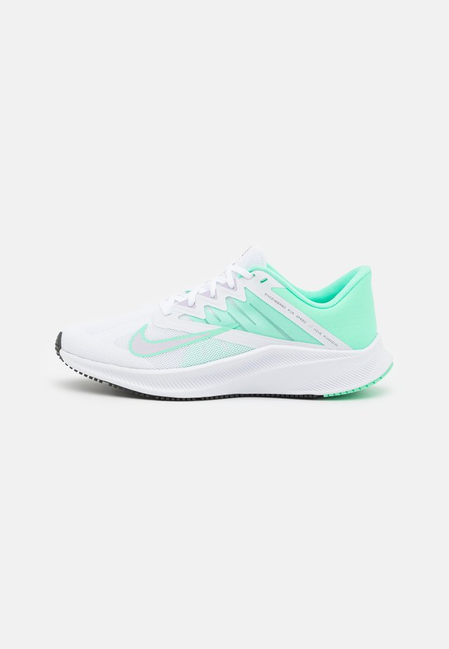 QUEST 3 - Zapatillas de running neutras - white/infinite lilac/green glow/dark smoke grey