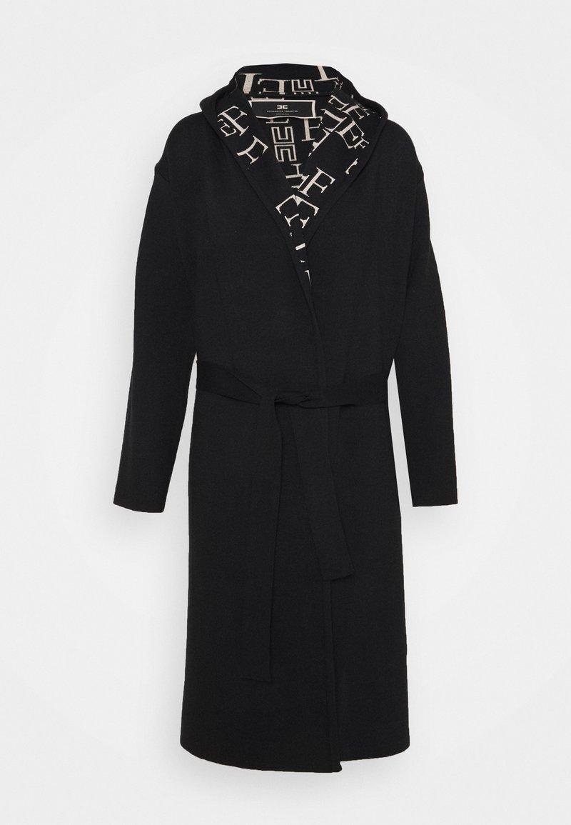 Elisabetta Franchi - Classic coat - nero/burro