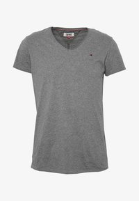 VNECK TEE - Basic T-shirt - dark grey