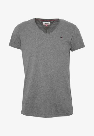 VNECK TEE - T-shirt basic - dark grey