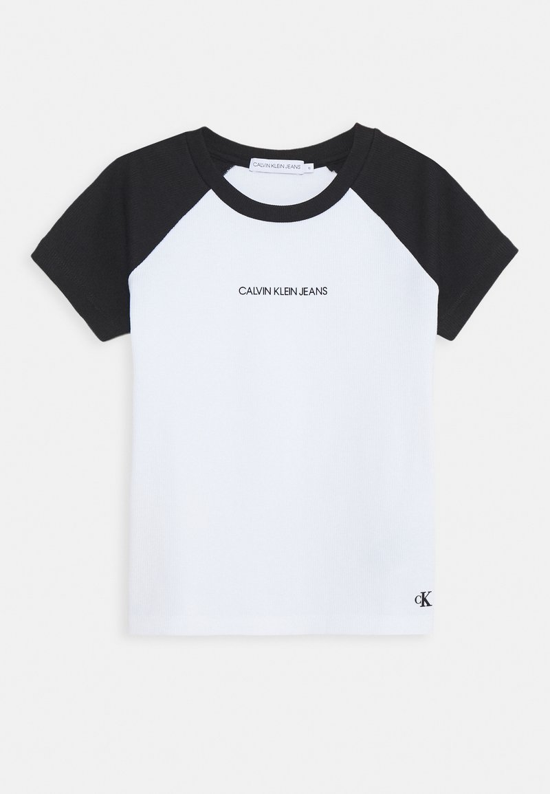 Calvin Klein Jeans - COLORBLOCK - T-shirt con stampa - black/white