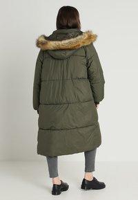 Urban Classics Curvy - LADIES OVERSIZE PUFFER COAT - Winter coat - darkolive/beige - 3