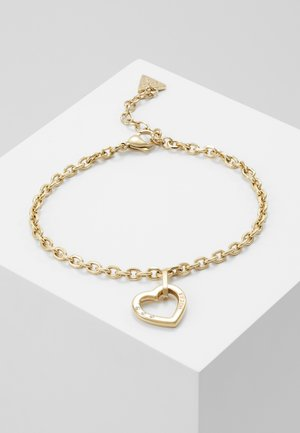 HEARTED CHAIN - Náramek - gold-coloured