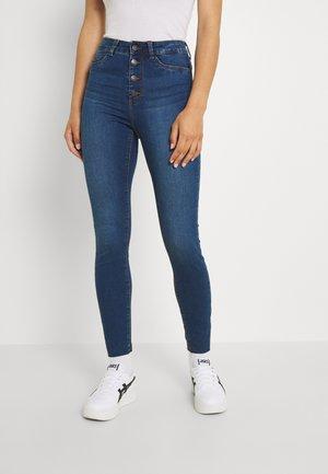 NMCALLIE BUTTON - Jeans Skinny Fit - medium blue denim