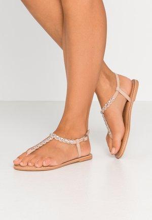 FELICITY - T-bar sandals - oatmeal