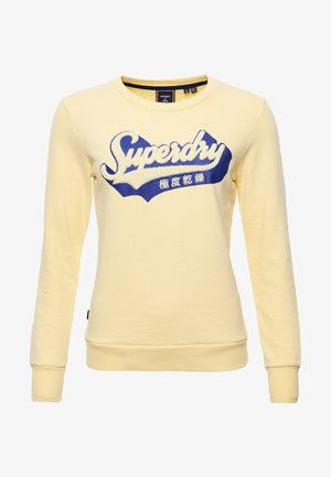 LIMITED EDITION CHENILLE SHADOW CREW - Sudadera - pale yellow