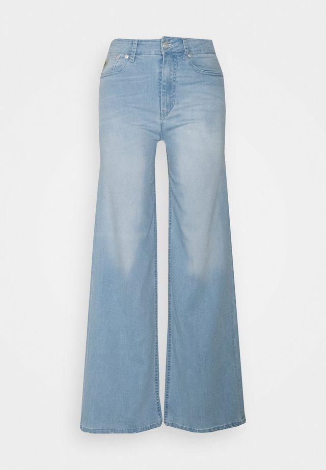 PALAZZO - Flared jeans - light stone