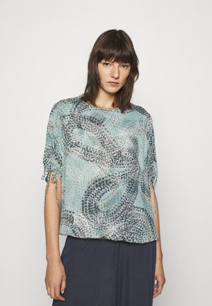 Print T-shirt - aqua blue all over
