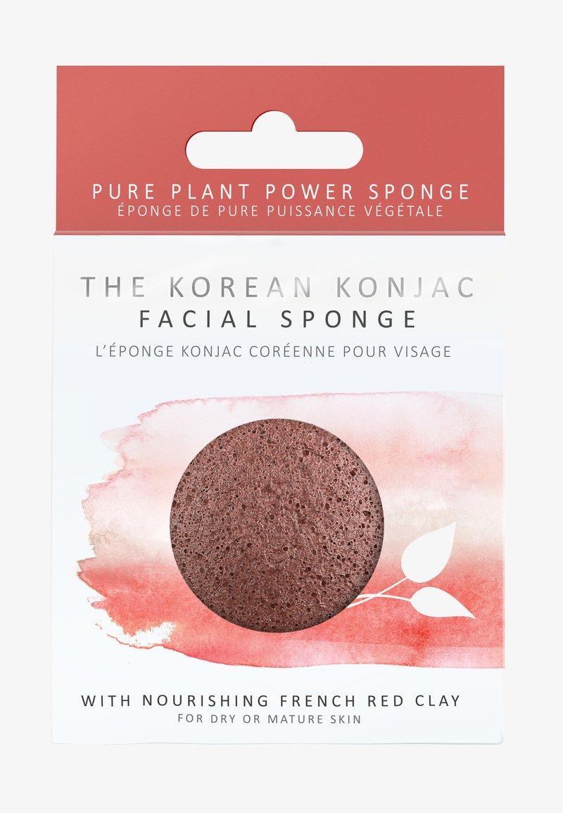 Konjac Sponge - KONJAC FACIAL SPONGE - Skincare tool - rote tonerde
