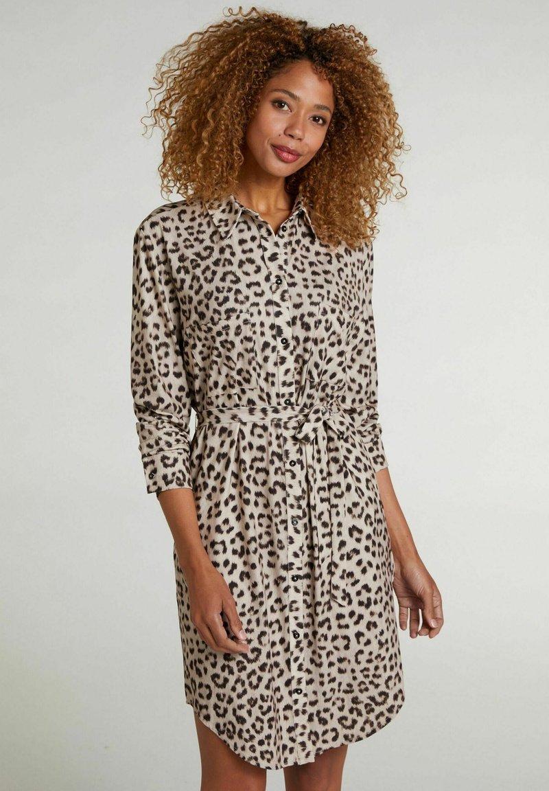 Oui - Shirt dress - light grey camel