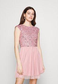 Lace & Beads - TESS SKATER - Juhlamekko - pink - 0