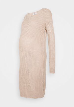 COSY JUMPER DRESS - Vestido de punto - stone