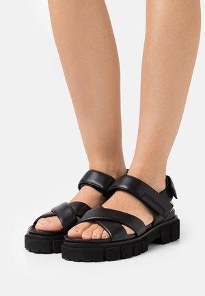 TRAIL - Platform sandals - schwarz