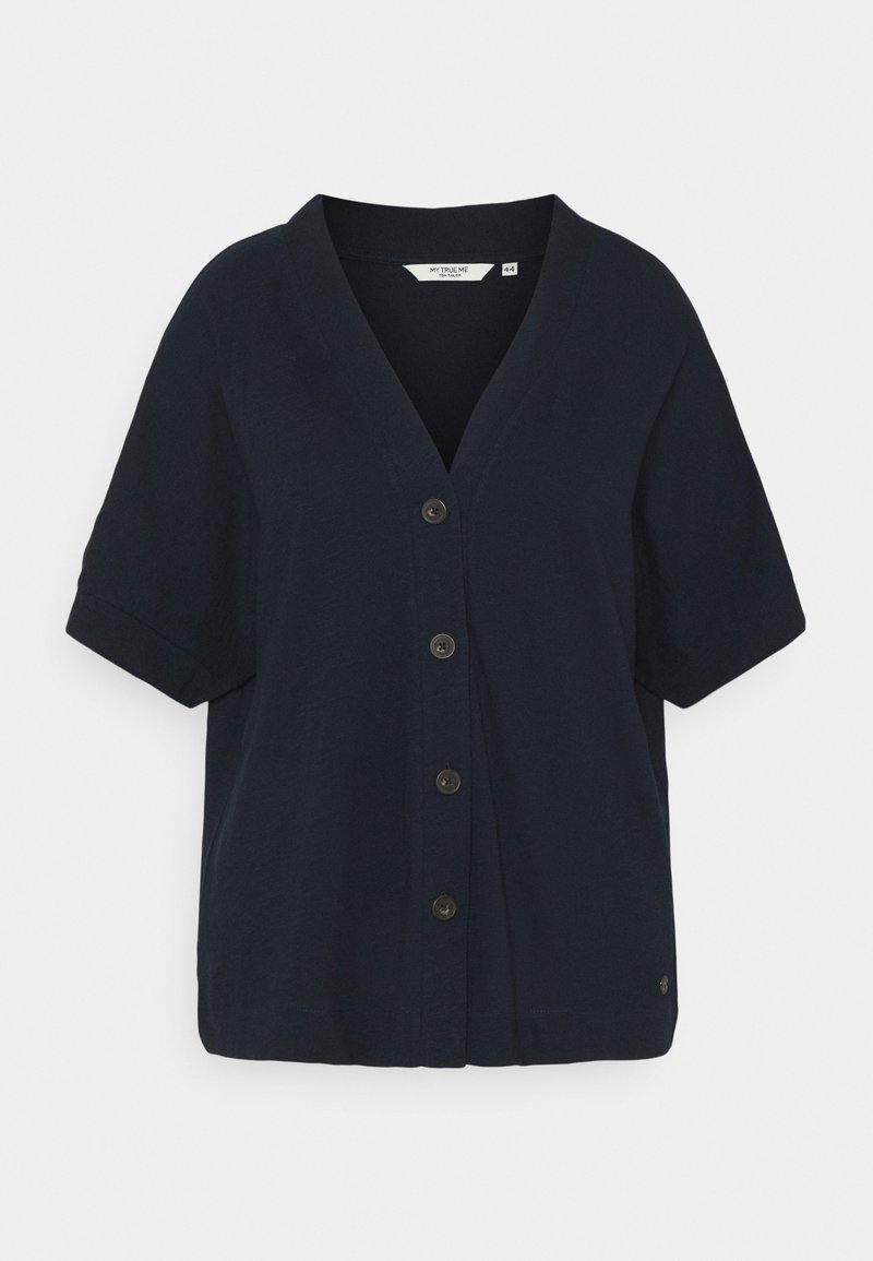 MY TRUE ME TOM TAILOR - WITH PLACKET - Print T-shirt - sky captain blue
