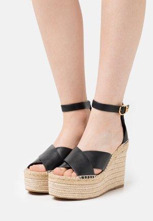 SELBY WEDGE  - Platform sandals - black