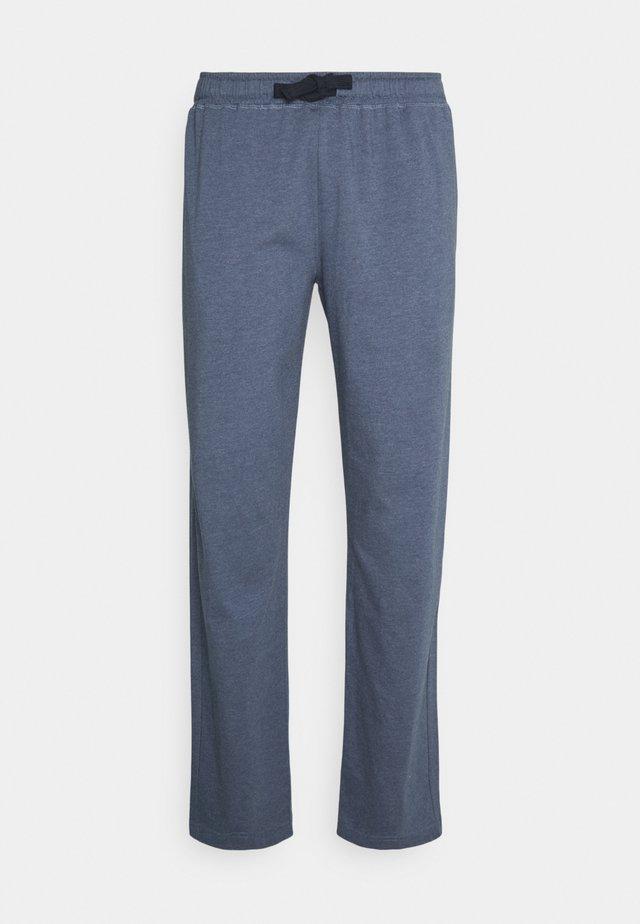 TROUSERS - Pyjamasbukse - blue dark melange